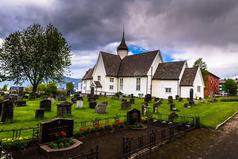 Mo I Rana - June 16, 2018: The church of Mo I Rana, Norway royalty free stock photos