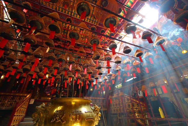 Mo van de mens tempel in Hongkong stock foto