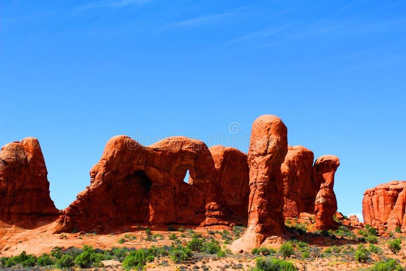 Moab Γιούτα πάρκων αψίδων εθνικός βράχος bluffs στοκ φωτογραφία