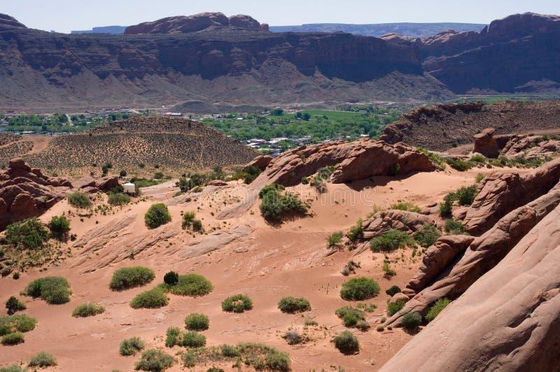 moab som förbiser utah royaltyfri foto