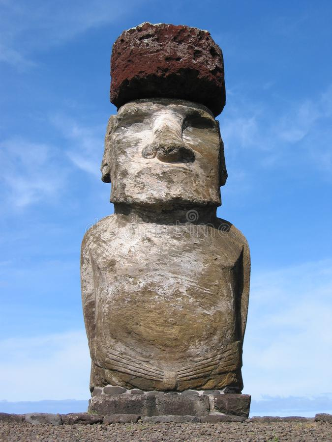Moai в Hangaroa Стоковое Изображение