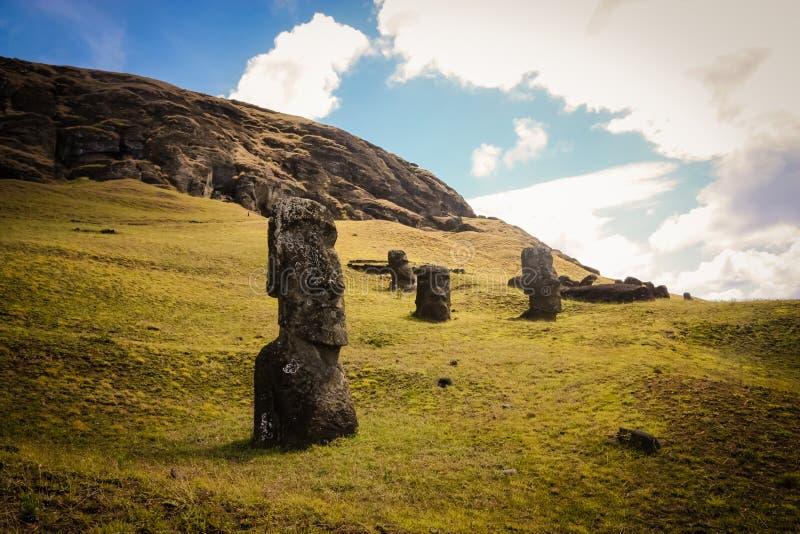 moai острова пасхи стоковое изображение rf