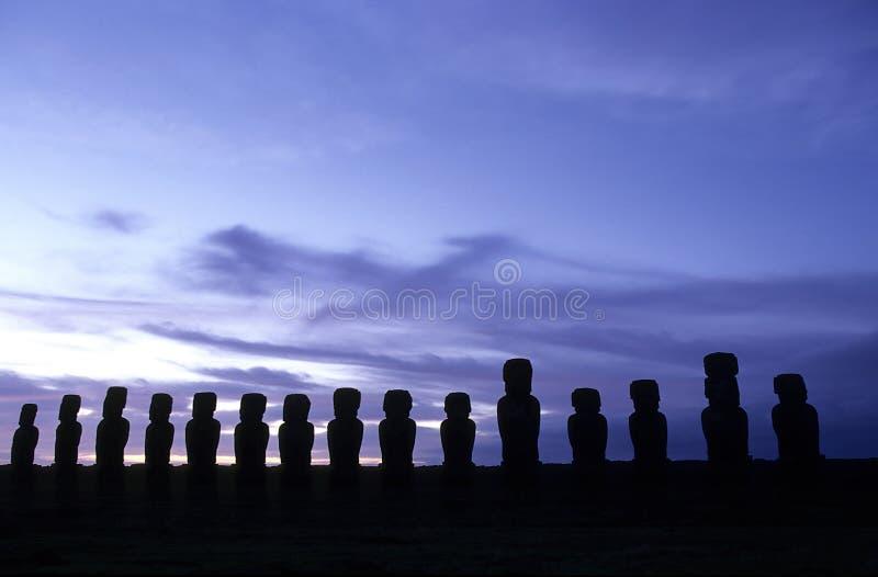 moai острова Чили пасхи стоковые изображения rf