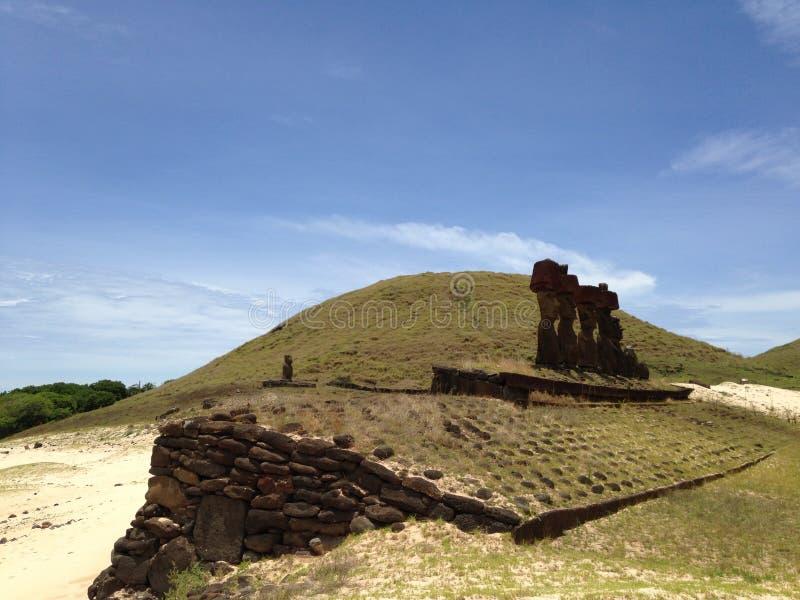 Moai arkivfoto