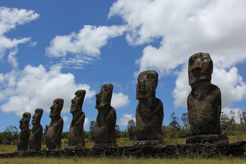 Moai zdjęcia royalty free
