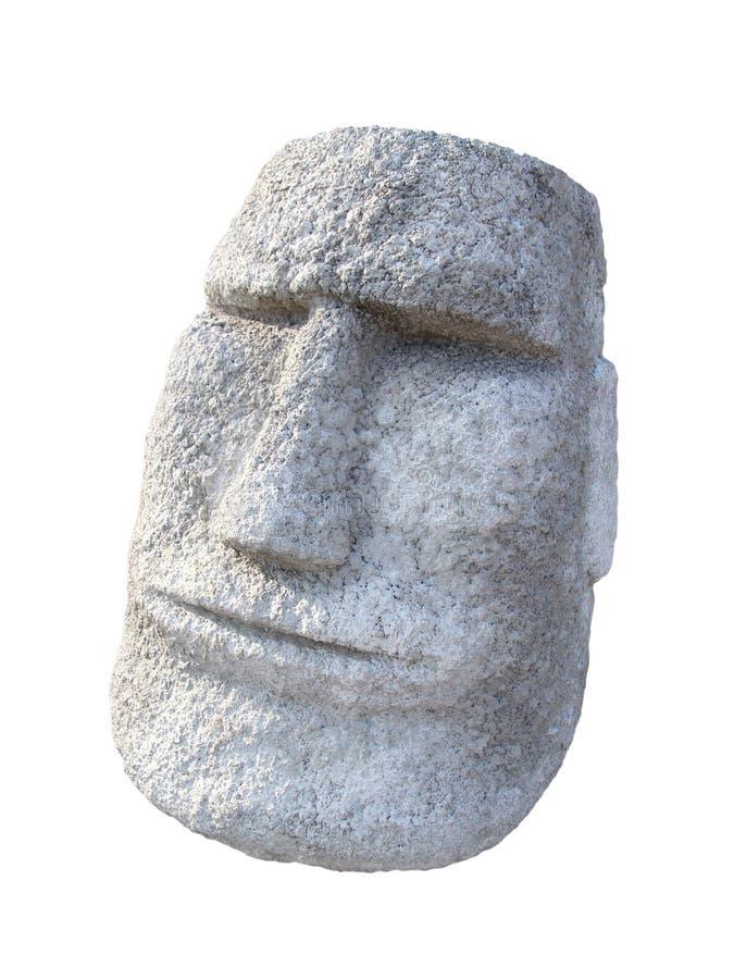 Moai aislado hace frente foto de archivo