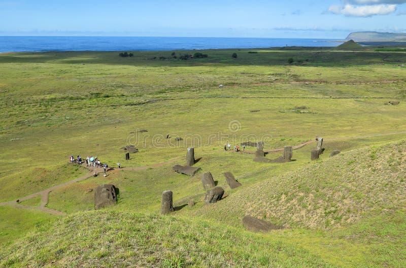 MOAI IN DER OSTERINSEL, CHILE lizenzfreies stockbild