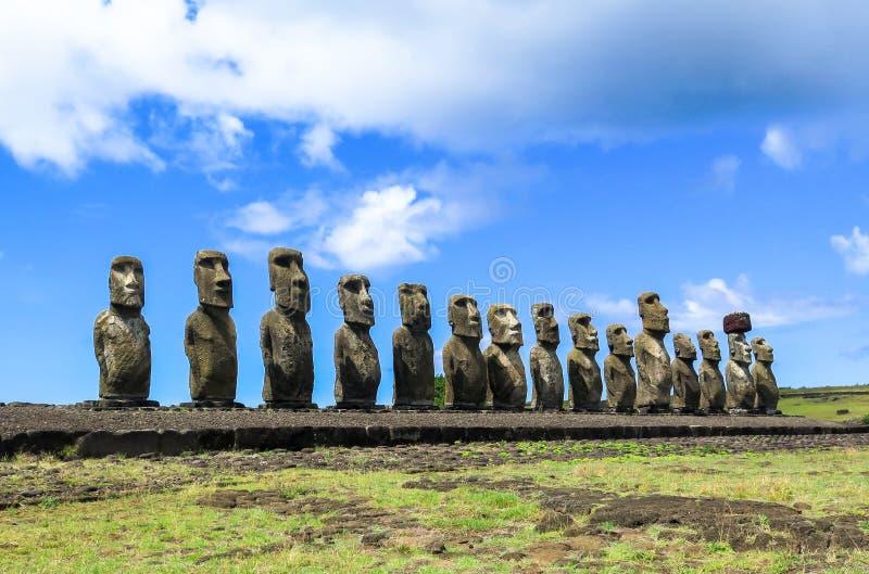MOAI IN DER OSTERINSEL, CHILE lizenzfreie stockfotografie
