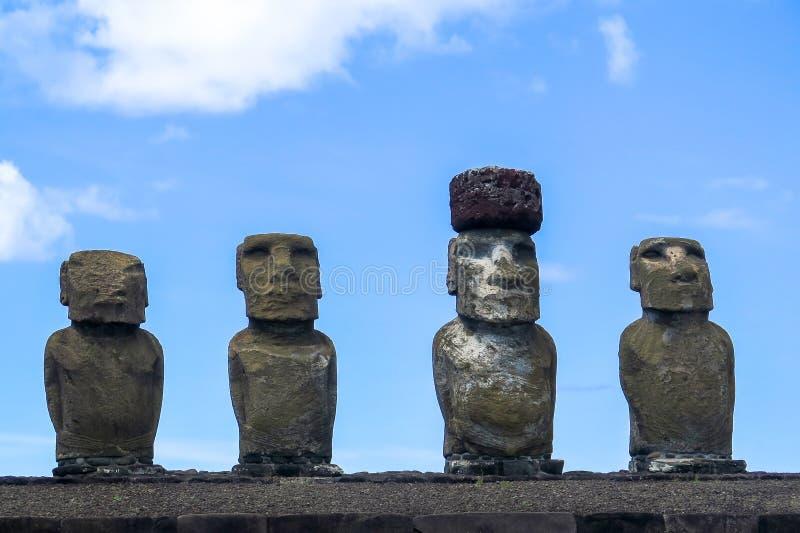 MOAI IN DER OSTERINSEL, CHILE stockfotos
