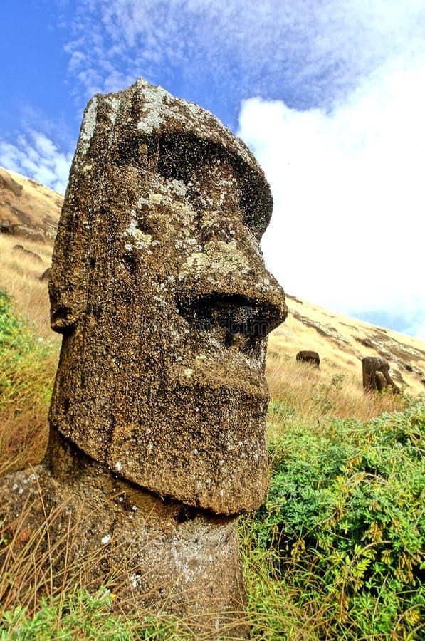 Moai- Easter Island royalty free stock photography