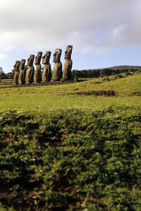 Download Moai- Easter Island, Chile Stock Images - Image: 11039354