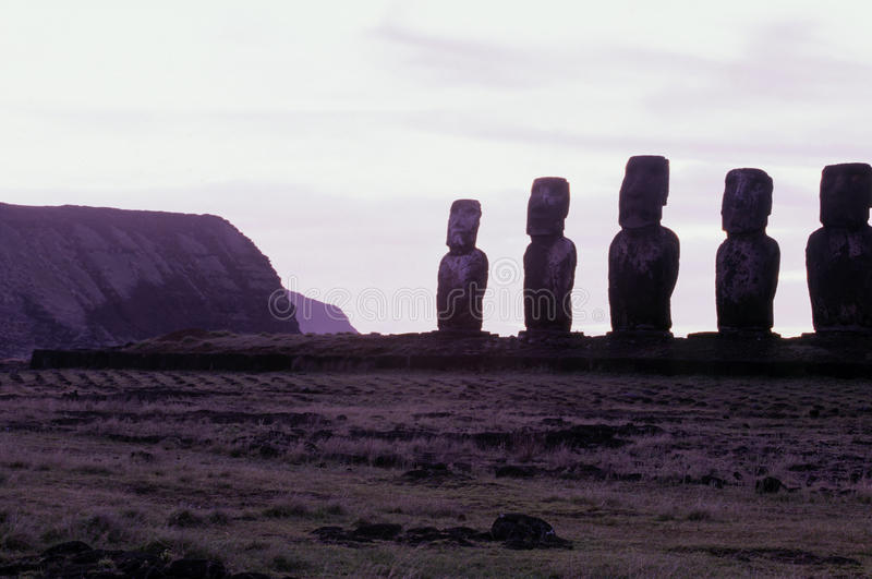 Download Moai- Easter Island, Chile Royalty Free Stock Photos - Image: 11043308