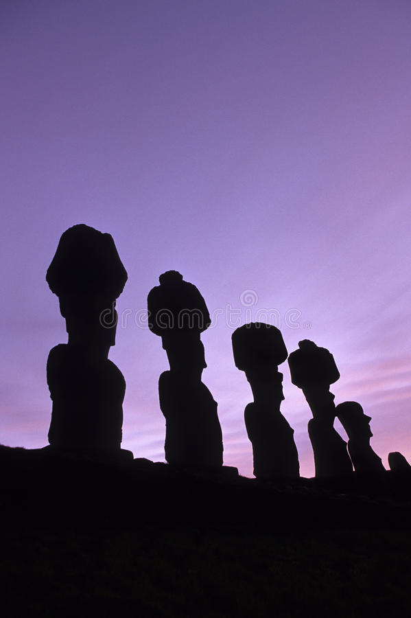 Download Moai- Easter Island, Chile stock image. Image of extinction - 11046529