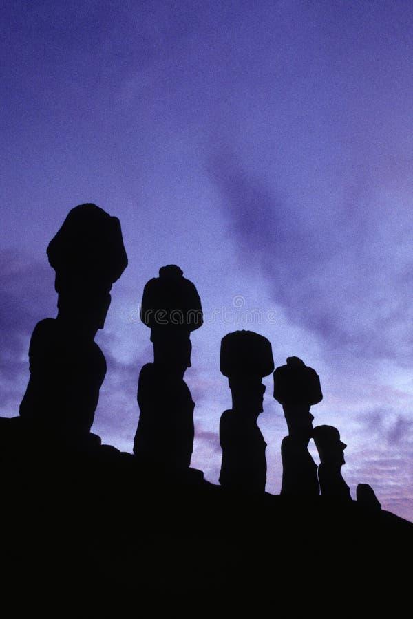 Moai- Easter Island, Chile Stock Photo