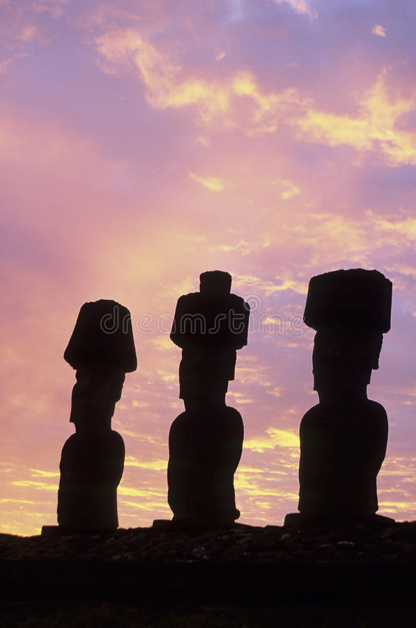 Download Moai- Easter Island, Chile stock image. Image of carving - 13017187