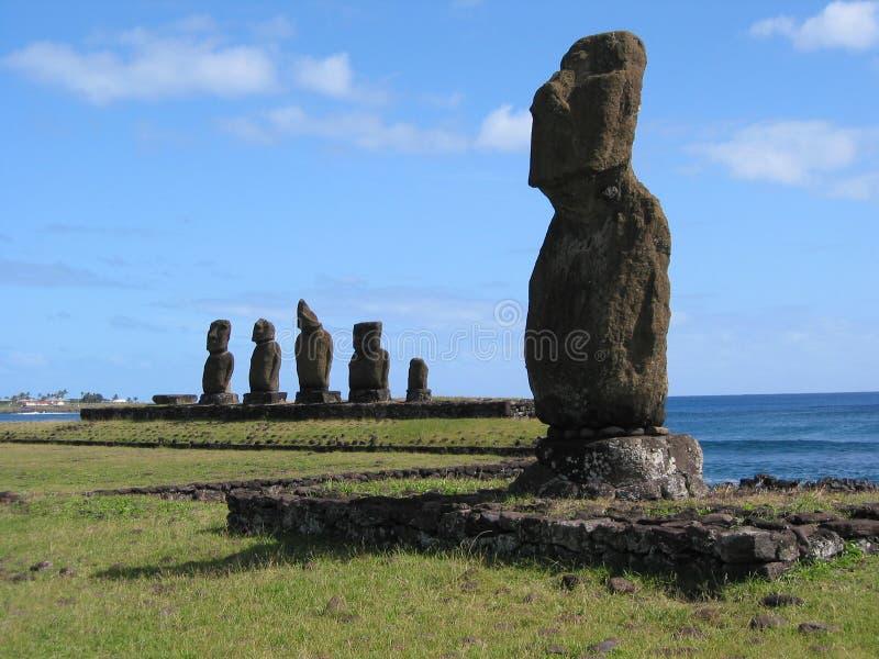 Moai en Hangaroa imagen de archivo