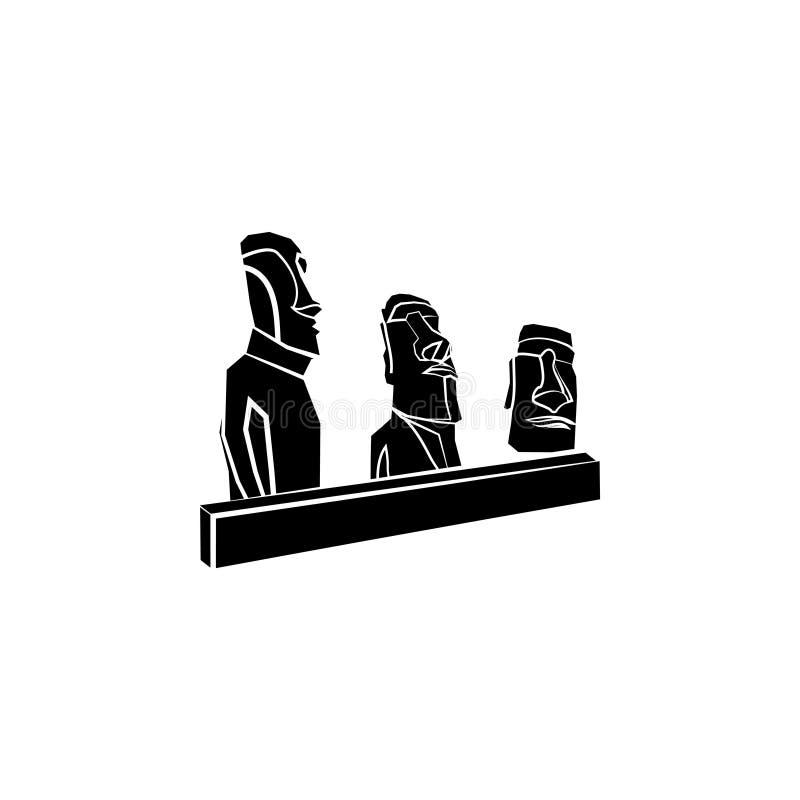 Moai Estátuas da Ilha de Páscoa ilustração stock