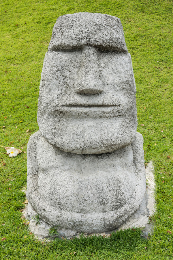 Download Moai In A Garden Stock Image. Image Of Copied, Green   61298675