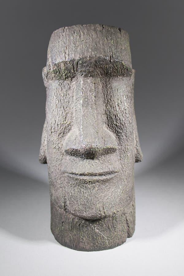 Moai huvud från kopian för påskö royaltyfria bilder