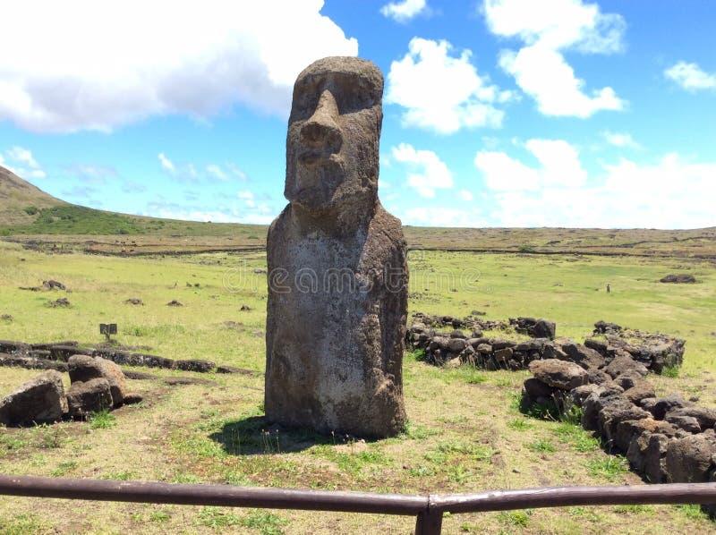 Moai, Ilha de Páscoa fotografia de stock