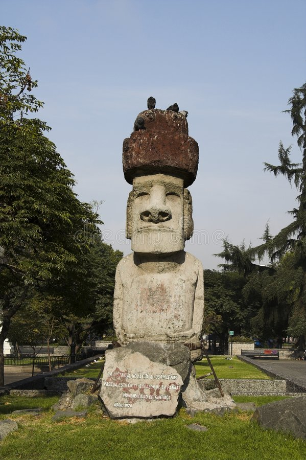 Free Moai In Santiago De Chile Stock Image - 572161