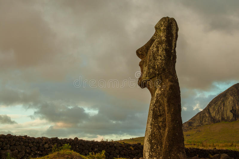 Moai Named Traveler stock photos