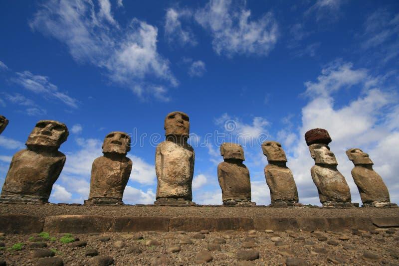 Moai nell'isola di pasqua immagine stock libera da diritti