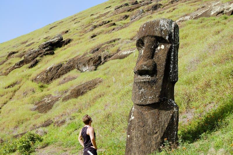 Moai - Pasen-Eiland royalty-vrije stock fotografie