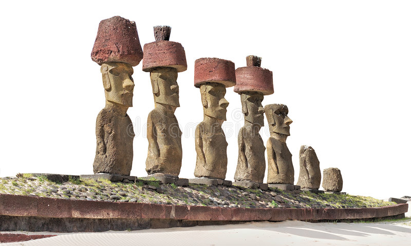 moai posągi fotografia royalty free