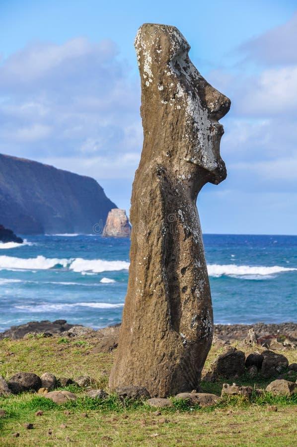Moai Silhouette, Ahu Tongariki, Easter Island, Chile
