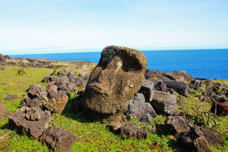 Moai staty royaltyfria bilder