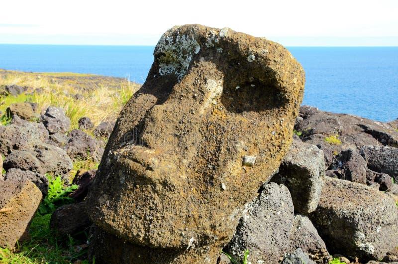 Moai staty arkivfoton