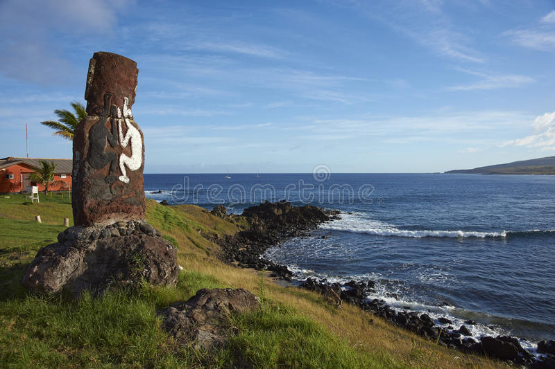 Moai staty, påskö, Chile royaltyfria bilder