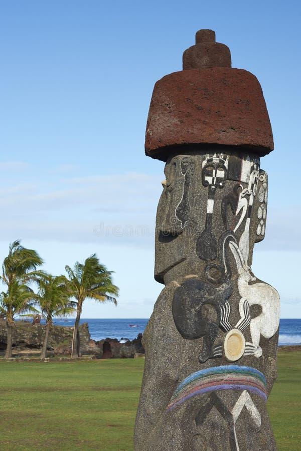 Moai staty, påskö, Chile royaltyfri bild