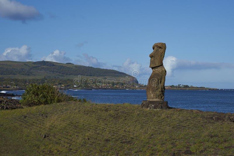 Moai staty, påskö, Chile royaltyfri foto