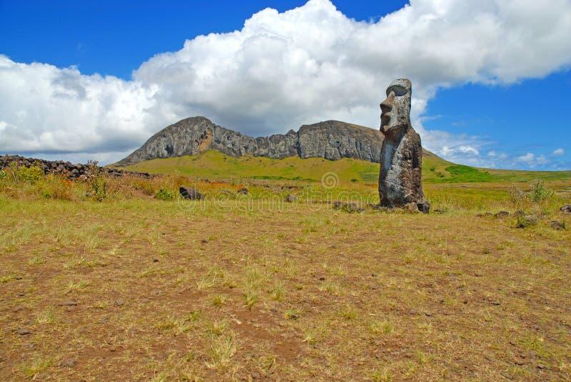 Moai stenstaty på Rapa Nui - påskö arkivbild