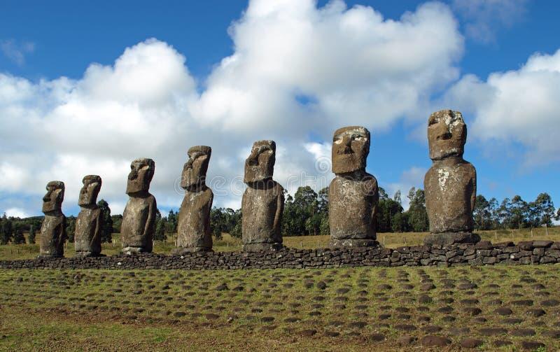 Moai sur l'île de Pâques image libre de droits