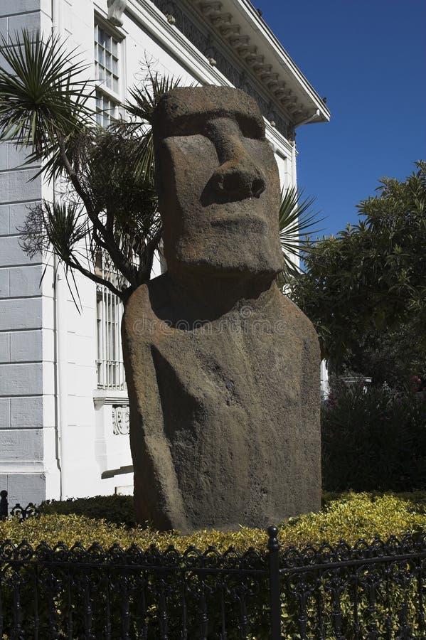 Moai in Vina del Mar royalty-vrije stock foto's