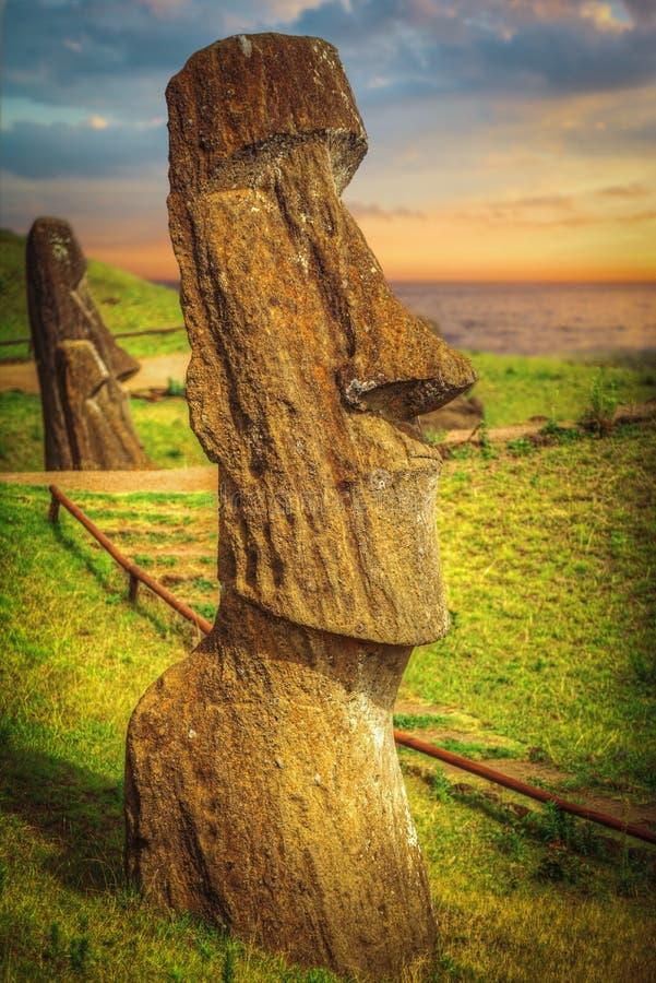 Moais at Ahu Tongariki royalty free stock photo