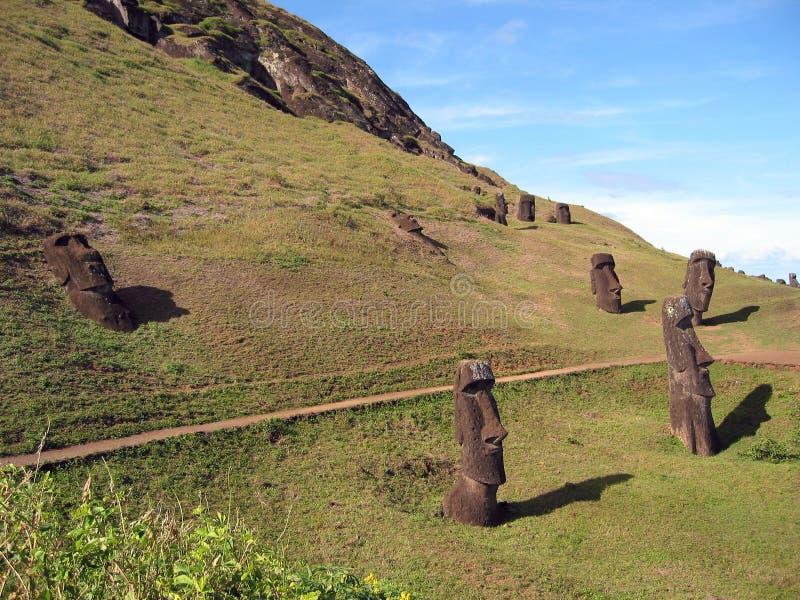 Moais d'île de Pâques photographie stock libre de droits