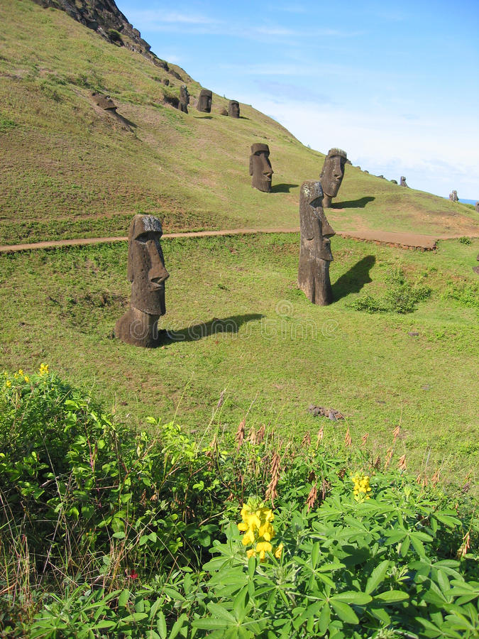 Download Moais of the Easter island stock photo. Image of park - 12337126