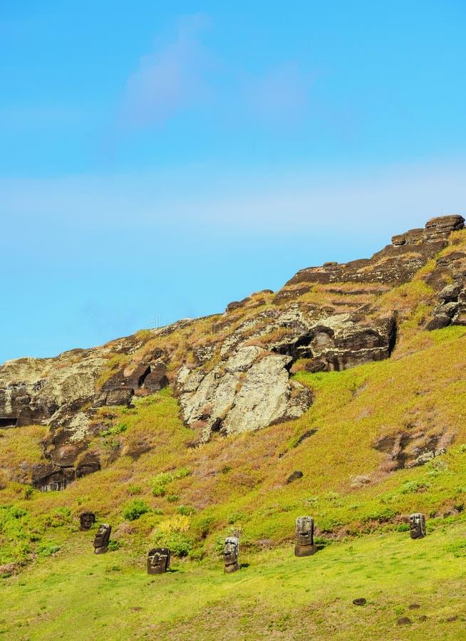 Moais na Ilha de Páscoa, o Chile foto de stock royalty free