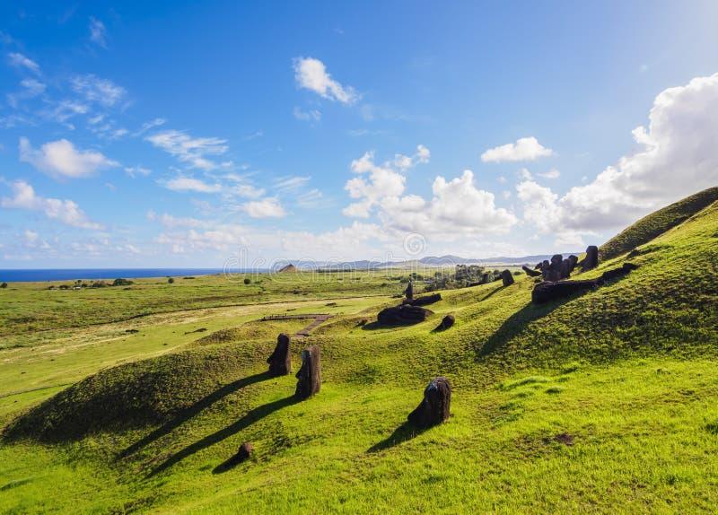 Moais na Wielkanocnej wyspie, Chile obrazy stock