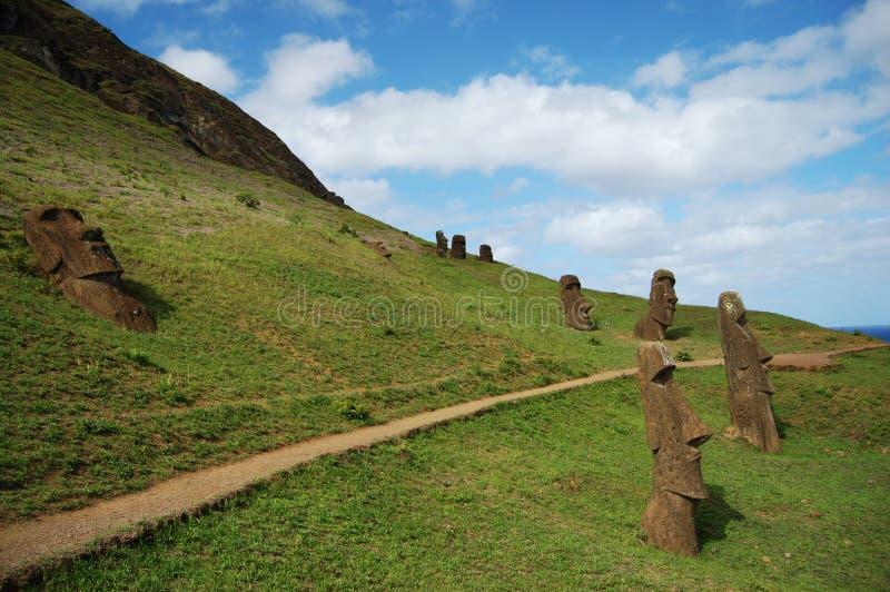 Moais - Wielkanocna wyspa obrazy royalty free