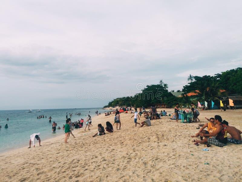 Moalboal plaża zdjęcia royalty free