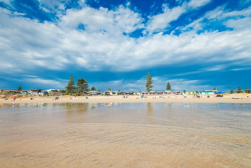 Moana strand, södra Australien arkivbilder