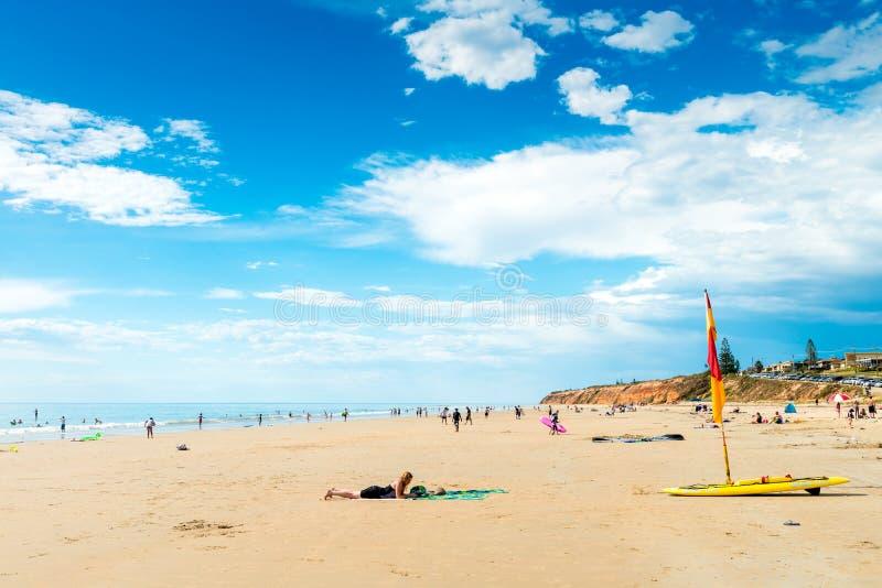 Moana strand, södra Australien royaltyfri fotografi