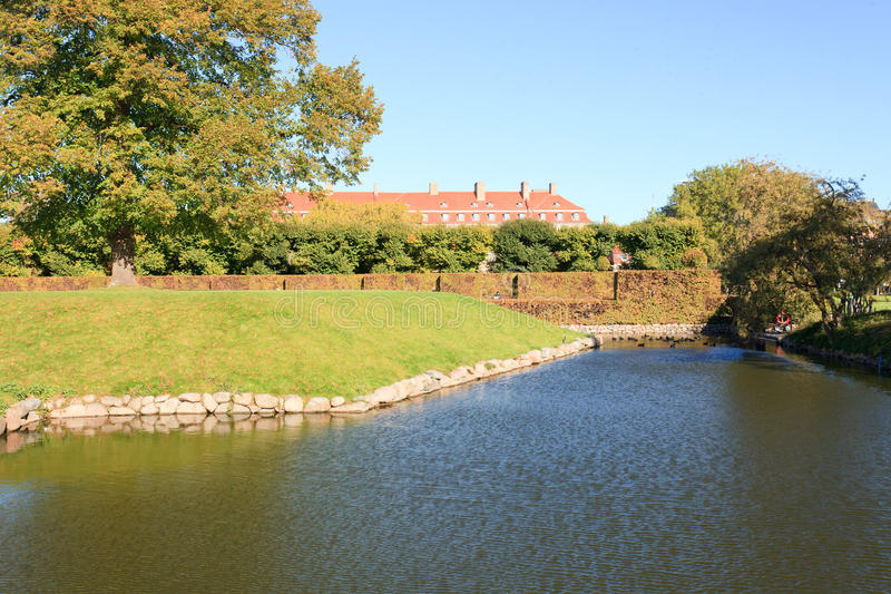 Download Moat around a garden stock photo. Image of botanical - 25799892
