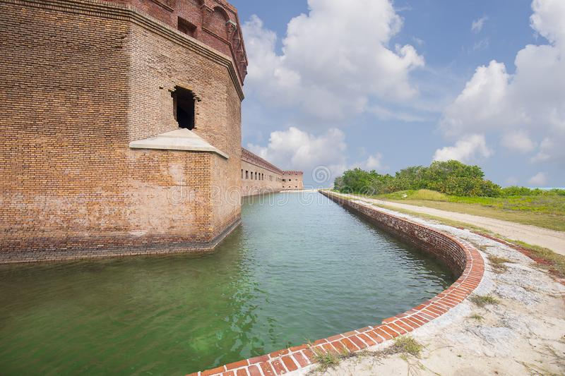 Moat at Fort Jefferson, Dry Tortugas stock photo