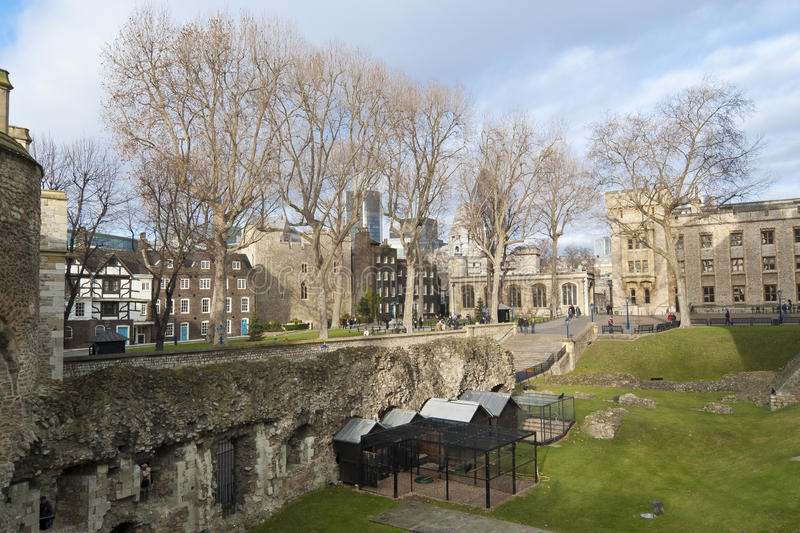 Moat Of Tower Of London Stock Photos